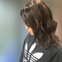 外国人風 うる艶カラー セミロング 外国人風カラー ヘアスタイルや髪型の写真・画像