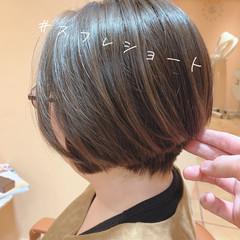 大人かわいい ショートヘア ショート ナチュラル ヘアスタイルや髪型の写真・画像