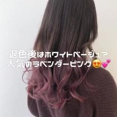 ピンクベージュ ナチュラル ピンクアッシュ ベリーピンク ヘアスタイルや髪型の写真・画像