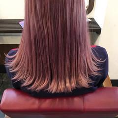 ミディアム パープル イルミナカラー ピンク ヘアスタイルや髪型の写真・画像