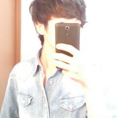 パーマ メンズ ボーイッシュ ヘアスタイルや髪型の写真・画像
