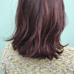 ミディアム ストリート ピンク ピンクアッシュ ヘアスタイルや髪型の写真・画像