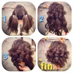 パーティ コンサバ ヘアアレンジ くるりんぱ ヘアスタイルや髪型の写真・画像