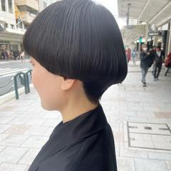モード ショートマッシュ ボブ マッシュショート ヘアスタイルや髪型の写真・画像