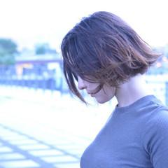 ボブ アウトドア 髪質改善トリートメント ナチュラル ヘアスタイルや髪型の写真・画像