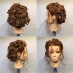 謝恩会 結婚式 波ウェーブ セミロング ヘアスタイルや髪型の写真・画像