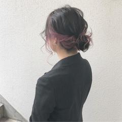 大人かわいい ミディアム ナチュラル ヘアアレンジ ヘアスタイルや髪型の写真・画像