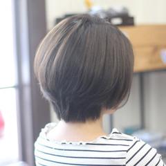 お手入れ簡単!! ナチュラル ショート ショートボブ ヘアスタイルや髪型の写真・画像