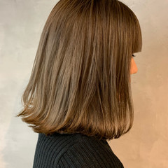 透明感 ヌーディベージュ ベージュ ナチュラル ヘアスタイルや髪型の写真・画像