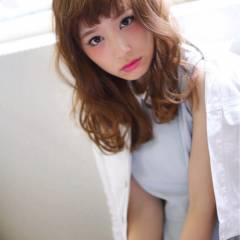 春 フェミニン ガーリー モテ髪 ヘアスタイルや髪型の写真・画像