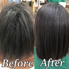 髪質改善 ナチュラル 髪質改善トリートメント ツヤ髪 ヘアスタイルや髪型の写真・画像
