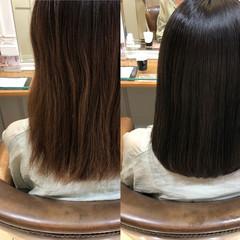 髪質改善カラー ボブ 髪質改善 艶髪 ヘアスタイルや髪型の写真・画像