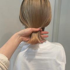 アウトドア アンニュイほつれヘア ボブ スポーツ ヘアスタイルや髪型の写真・画像