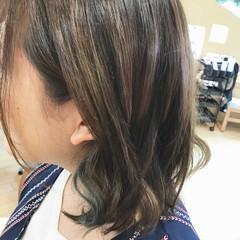 透明感 秋 ガーリー グリーン ヘアスタイルや髪型の写真・画像