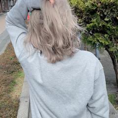 グラデーションカラー ミディアム 切りっぱなしボブ ミニボブ ヘアスタイルや髪型の写真・画像