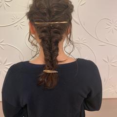 簡単ヘアアレンジ エレガント 編み込みヘア ロング ヘアスタイルや髪型の写真・画像