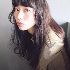 黒髪 パーマ 暗髪 ゆるふわ ヘアスタイルや髪型の写真・画像
