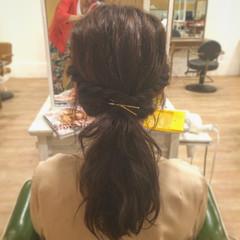ピュア 波ウェーブ 簡単ヘアアレンジ 夏 ヘアスタイルや髪型の写真・画像
