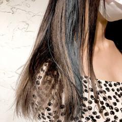 ストリート ハイトーンカラー ミディアム イヤリングカラー ヘアスタイルや髪型の写真・画像