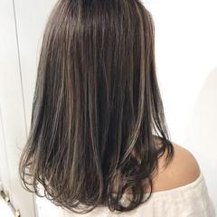 デート 暗髪 ミディアム 春 ヘアスタイルや髪型の写真・画像
