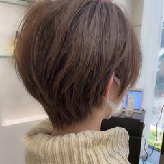 ショート ショートヘア インナーカラー ショートボブ ヘアスタイルや髪型の写真・画像