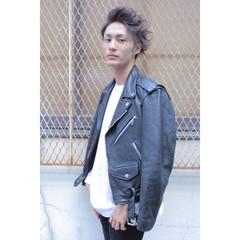 メンズ アッシュ ストリート パーマ ヘアスタイルや髪型の写真・画像