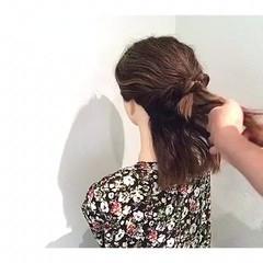 夏 アウトドア フェミニン ヘアアレンジ ヘアスタイルや髪型の写真・画像