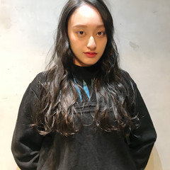 グレージュ 透明感 ロング 黒髪 ヘアスタイルや髪型の写真・画像