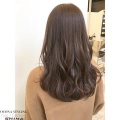 セミロング 暗髪 大人かわいい 冬 ヘアスタイルや髪型の写真・画像