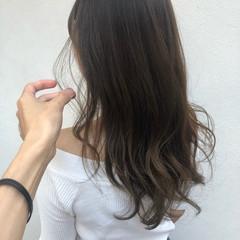 インナーカラー ミルクティー ナチュラル 簡単ヘアアレンジ ヘアスタイルや髪型の写真・画像