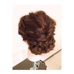 ハーフアップ 簡単ヘアアレンジ ショート ハイライト ヘアスタイルや髪型の写真・画像