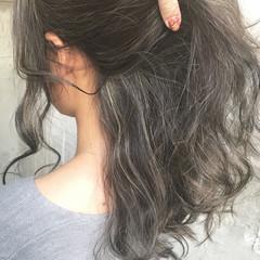 セミロング ストリート ハイライト 外国人風 ヘアスタイルや髪型の写真・画像