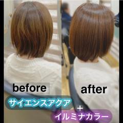 髪質改善トリートメント 髪質改善カラー うる艶カラー ボブ ヘアスタイルや髪型の写真・画像