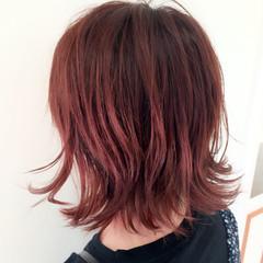 ピンク ストリート ボブ ハイライト ヘアスタイルや髪型の写真・画像