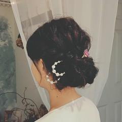 ロング 冬 ヘアアレンジ 結婚式 ヘアスタイルや髪型の写真・画像