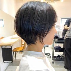 ナチュラル アウトドア デート ショートボブ ヘアスタイルや髪型の写真・画像