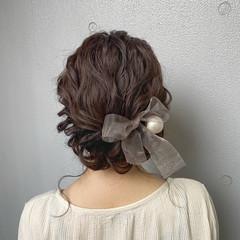 フェミニン ヘアアレンジ 結婚式ヘアアレンジ ヘアセット ヘアスタイルや髪型の写真・画像