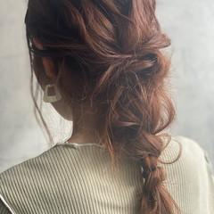 編みおろしヘア セルフアレンジ ロング ヘアアレンジ ヘアスタイルや髪型の写真・画像