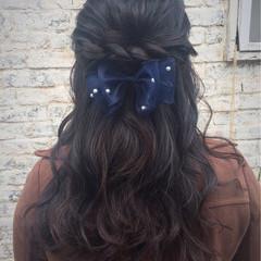 簡単ヘアアレンジ ロング ハーフアップ ヘアアレンジ ヘアスタイルや髪型の写真・画像