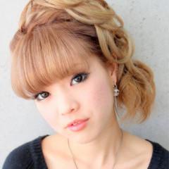 ミディアム 渋谷系 パーティ 結婚式 ヘアスタイルや髪型の写真・画像