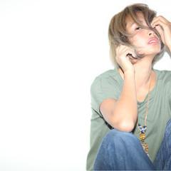 ピュア ハイライト 簡単ヘアアレンジ ショート ヘアスタイルや髪型の写真・画像