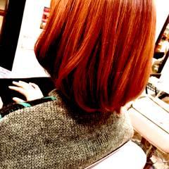 ピンク ストリート レッド ショート ヘアスタイルや髪型の写真・画像