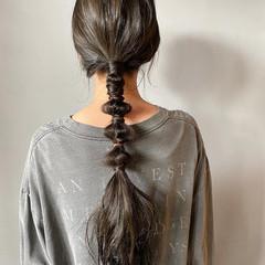 ナチュラル 暗髪 くすみカラー ロング ヘアスタイルや髪型の写真・画像