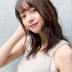 デジタルパーマ ヘアアレンジ ミディアム 鎖骨ミディアム ヘアスタイルや髪型の写真・画像