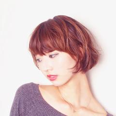 ミニボブ ナチュラル ショートヘア ヘアケア ヘアスタイルや髪型の写真・画像
