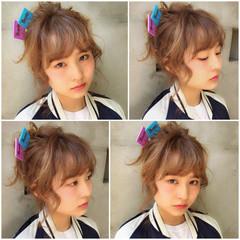 外国人風 簡単ヘアアレンジ 前髪あり ヘアアレンジ ヘアスタイルや髪型の写真・画像