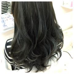ガーリー アッシュ 暗髪 黒髪 ヘアスタイルや髪型の写真・画像