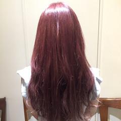 ロング 外国人風 ストリート ピンク ヘアスタイルや髪型の写真・画像