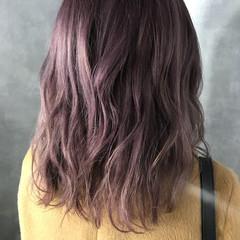 ハイライト ダブルカラー フェミニン ハイトーン ヘアスタイルや髪型の写真・画像