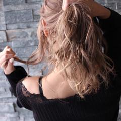 ミディアム 外国人風カラー 外国人風 ブリーチカラー ヘアスタイルや髪型の写真・画像